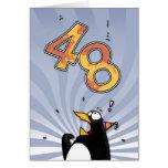48th Birthday - Penguin Surprise Card
