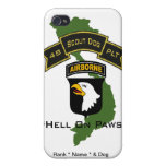 48th Scout Dog Platoon 101ID iPhone 4/4S Covers
