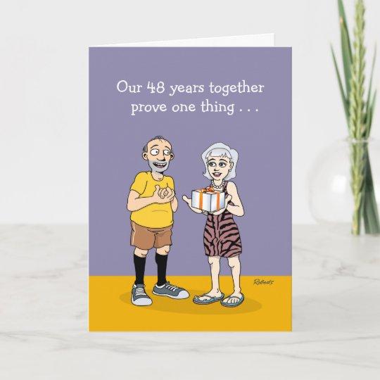 48th Wedding Anniversary Card Love Card Zazzle Com