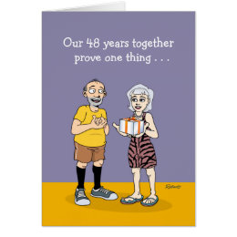 48th Wedding Anniversary Card Love
