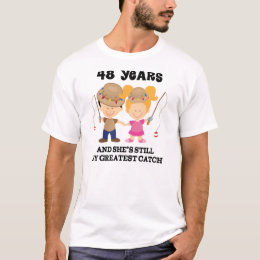 48th Wedding Anniversary Gift For Him T Shirt