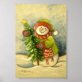 4901 Snowman Christmas Art Print