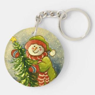 4901 Snowman Christmas Keychain