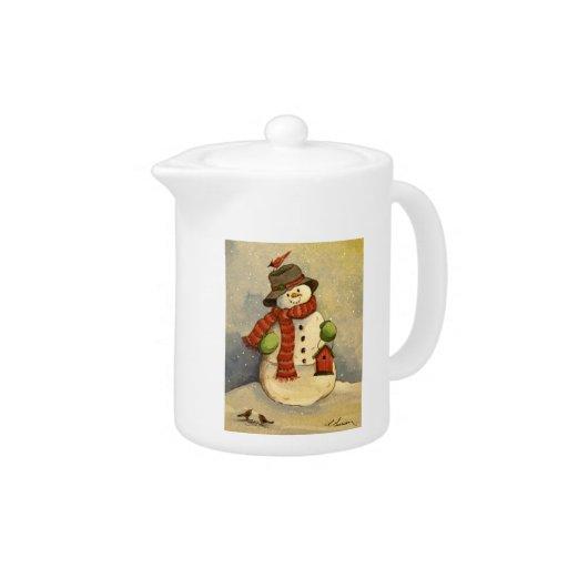 4905 navidad del muñeco de nieve y del Birdhouse