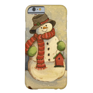 4905 Snowman & Birdhouse Barely There iPhone 6 Case