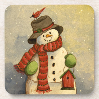 4905 Snowman & Birdhouse Christmas Drink Coasters
