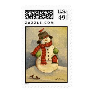 4905 Snowman & Birdhouse Christmas Postage