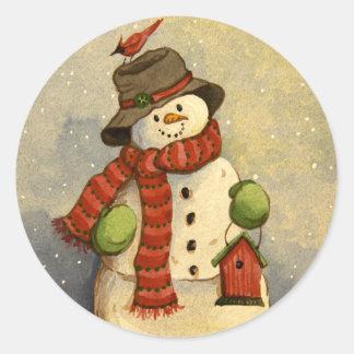 4905 Snowman Birdhouse Christmas Stickers