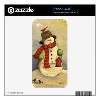 4905 Snowman Birdhouse iPhone 4S Skins