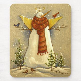 4907 Snow Angel & Birds Christmas Mouse Pad