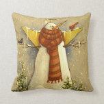 4907 Snow Angel & Birds Christmas Throw Pillow