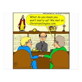 490 christian singles Cartoon Postcard