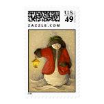 4910 Snowman & Lantern Christmas Postage