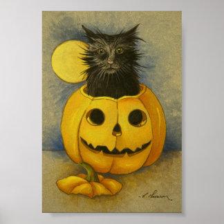 4919 Black Magic Kitty Art Print