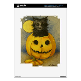 4919 Black Magic Kitty Halloween iPad 3 Decals