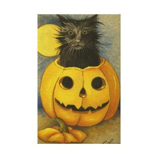 4919 Black Magic Kitty Wrapped Canvas Print