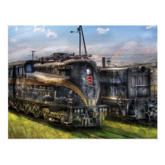 4919 - Locomotora eléctrica del ferrocarril de Postales