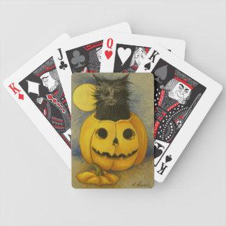 4919 naipes del gatito de la magia negra baraja de cartas