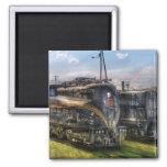 4919 - Pennsylvania Railroad electric locomotive 2 Inch Square Magnet