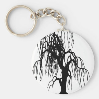 4920 SCARY WEEPING WILLOW TREE BLACK SILHOUETTE GR KEYCHAINS