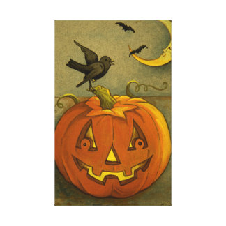 4923 Halloween Wrapped Canvas Print