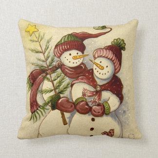 4924 navidad de los muñecos de nieve cojín
