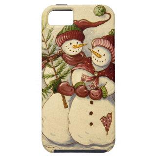 4924 navidad de los muñecos de nieve funda para iPhone SE/5/5s