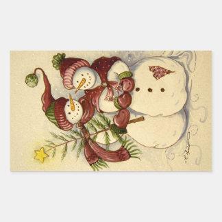 4924 navidad de los muñecos de nieve rectangular altavoces