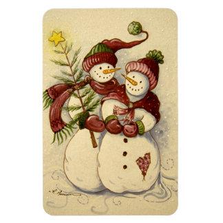4924 Snowmen Christmas Magnet