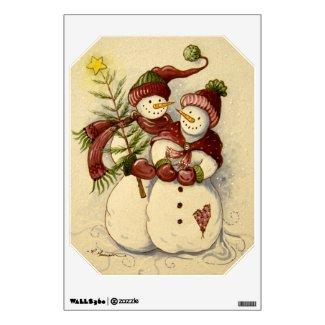 4924 Snowmen Christmas Wall Sticker