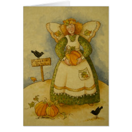 4929 Harvest Angel Bless & Protect Greeting Card