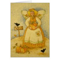 4934 Harvest Angel Thanksgiving Greeting Card