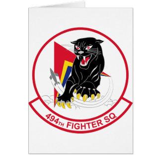 494th Fighter Squadron Card