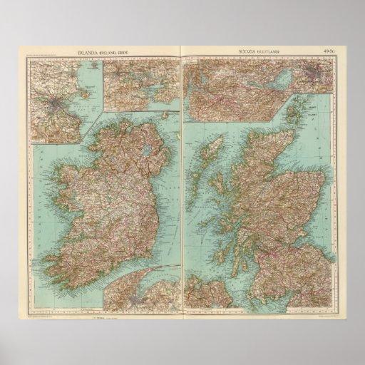 4950 Irlanda, Escocia Póster