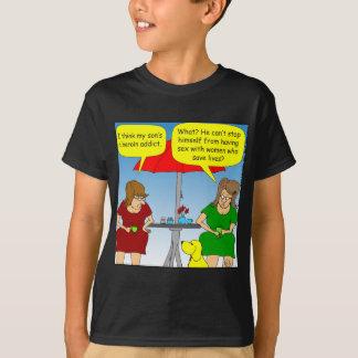 495 heroine addict cartoon T-Shirt