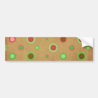 _496_circles-paper POLKADOT PATTERN PINKS GREENS Bumper Stickers