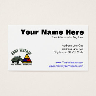 498th Support Business Card
