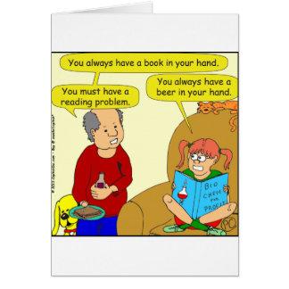 499 reading problem cartoon greeting card