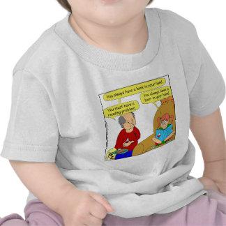 499 reading problem cartoon tee shirt