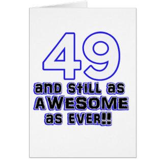 49 birthday design card
