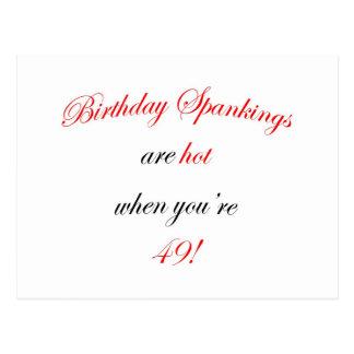 49 Birthday Spanking Postcard