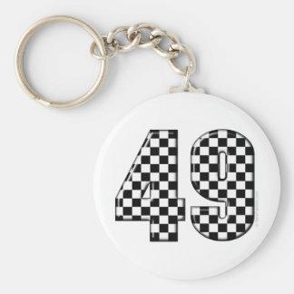 49 checkered number keychain