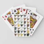 "49 Chicken Hens Playing Cards<br><div class=""desc"">Forty-nine hens in a variety of breeds and colors look snappy on everything from shirts and posters to cards and aprons!</div>"