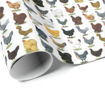 49 Chicken Hens Wrapping Paper