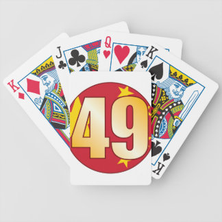 49 CHINA Gold Bicycle Playing Cards