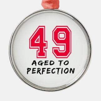 49 envejeció al diseño del cumpleaños de la perfec ornamento para arbol de navidad