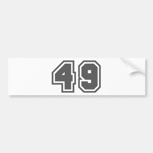 49 ETIQUETA DE PARACHOQUE