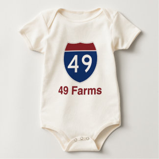 49 Farms - One in every square mile... Baby Bodysuit