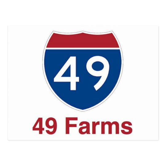 49 Farms - One in every square mile... Postcard