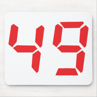 49 fourty-nine red alarm clock digital number mouse pad